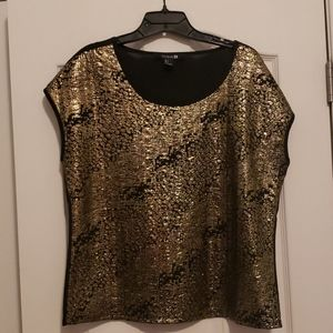 Gold and black going out shirt